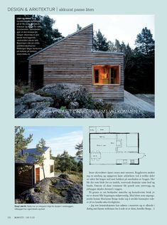 Bonytt-5 Small Cottage Homes, Garage Loft, Cabin Homes, House In The Woods, Modern Architecture, Tiny House, House Design, Cabin Fever, Sheds