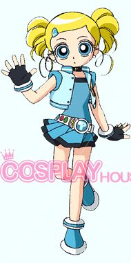 PowerPuff Girls Z -- Bubbles Cosplay Costume Version 01