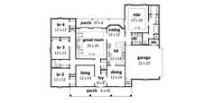 Burdett Creek Colonial Home Plan 092D-0043 | House Plans and More