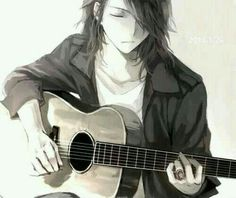 *-* ♡ #animeboy #anime #manga #boy #guitar