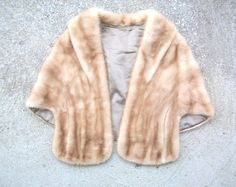 A fur to wear over a winter wedding gown.