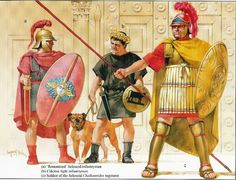 Seleucid infantrymen (presumably around the late 3rd to late 2nd century BCE during the reign of Antiochus III the Great) by the late Angus McBride
