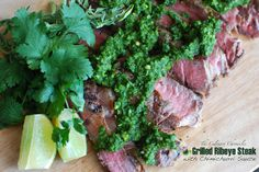 Grilled Ribeye Steak with Chimichurri Sauce by The Culinary Chronicles, via Flickr