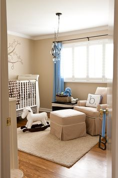 Love this simple baby boy nursery!