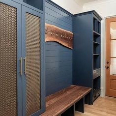 Mudroom Cabinets, Mudroom Laundry Room, Built In Lockers, Built In Bench, Shiplap Trim, Desing Inspiration, Interiores Design, Home Remodeling, New Homes