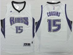 "$26.88 at ""MaryJersey""(maryjerseyelway@gmail.com) Revolution 30 Kings 15 DeMarcus Cousins White Stitched NBA Jersey"