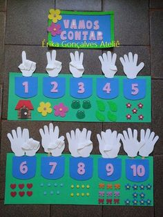 A that allows 3 types of counting. Preschool Learning Activities, Toddler Learning, Preschool Classroom, Kindergarten Math, Toddler Activities, Preschool Activities, Math For Kids, Crafts For Kids, Teaching Aids