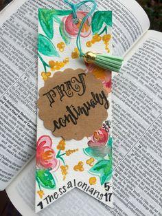 Handmade bible verse bookmark by LyndsieRooksCreation on Etsy https://www.etsy.com/listing/268683801/handmade-bible-verse-bookmark