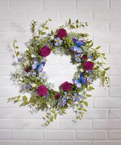 Loving this Floral Fantasy Wreath on #zulily! #zulilyfinds