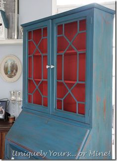 secretary desk aubson blue ascp custom mix of ascp in order to achieve a very beautiful coral chalk paint color equal parts emperor s silk