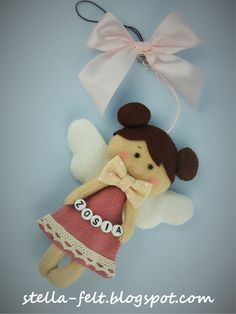 made in felt Angel for Zosia