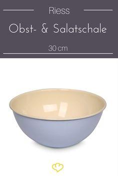 Bringt gute Laune und einen Hauch Farbe in die Küche - die Obst-  und Salatschale in pastellblau von Riess.