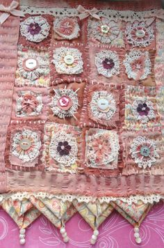 Textile Art Wall hanging by Thecraftmagpie on Etsy, $70.00