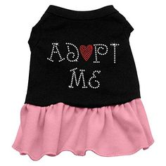Mirage Adopt Me Rhinestone Dog Dress  Pink Med >>> Check out this great product.