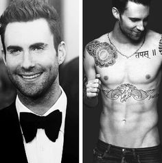 Sexy shirtless yet even sexier in a suit - Adam Levine