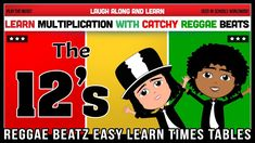12 Times Table Song (Reggae Beatz) Learn to Fun & Catchy Songs! 12 Times Table, Multiplication, Thing 1 Thing 2, Reggae, How To Memorize Things, Album, Songs, Learning, Fun