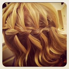 Waterfall braid I did in my sister!