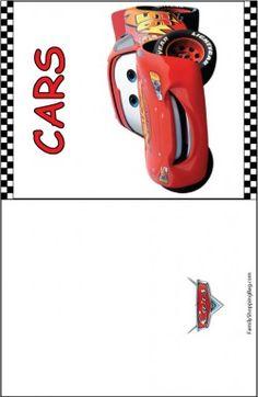Pixar Cars Birthday, Cars Birthday Parties, Car Birthday, Cars Invitation, Invitations, Birthday Card Template, Birthday Cards, Lightning Mcqueen Party, Disney Cards