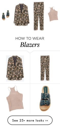 """LOOK AT THIS ZARA SUIT"" by amberelb on Polyvore featuring Zara and Paloma Barceló"