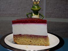 Eierlikör-Quark-Torte mit Himbeerspiegel