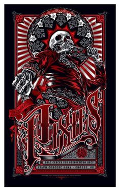 Two of my fav things combined - Pixies and mexican skull art.