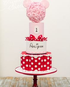 Red & White Polka Dotted Birthday Cake