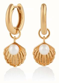 Olivia Burton - In stock. The Olivia Burton comes with free delivery, , 30 day returns and box. Olivia Burton, Shell Earrings, Pearl Earrings, Drop Earrings, Sea Jewelry, Jewellery, Girlfriend Birthday, Jewelry Packaging, Schmuck
