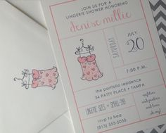 Oh My :: lingerie shower invitations