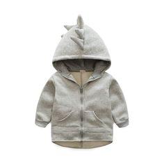 2016 Nueva Otoño Fashion Retail 6-24 M Bebé Ropa Hoodies 1 Unidades Bebé Dinosaurio Animal Bebé Ssweatshirt la Capa del bebé