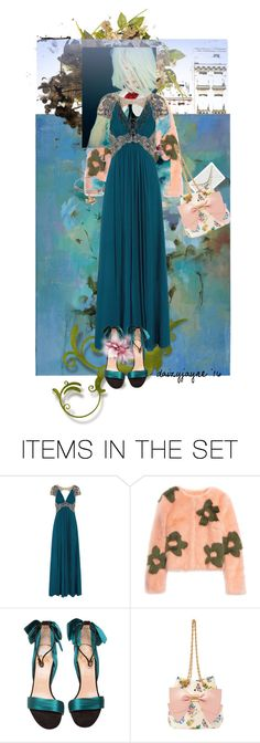 """aqua blue ball"" by daizyjayne ❤ liked on Polyvore featuring art, contestentry, fashionart, autismawareness and autismball"