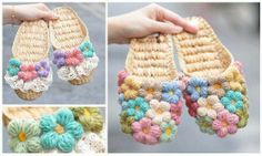 crochet chanclas hermosas