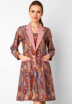Batik Dress Silk Enggal Warni 30 by BATIK SEMAR AG2032 | Klikplaza Online Shop Model Dress Batik, Batik Dress, Batik Fashion, Hijab Fashion, Fasion, Model Kebaya, Batik Solo, Batik Kebaya, Wrap Dress