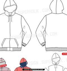 Hoodie vector template ZIP-UP HOODIE zip-up hoodie ...