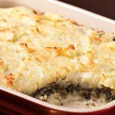 Layered Mashed Potato & Mushroom Casserole Recipe | http://aol.it/1e1F3i4
