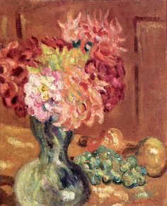 Vase of Chrysanthemums, by Louis Valtat (French, 1869–1952).