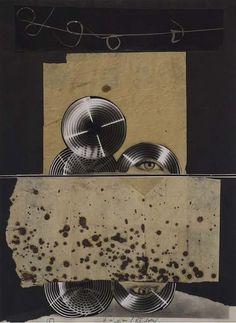 Collage by Libor Fára (1925-1988), 1981, Black Sunday 5. #CzechArt