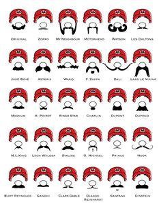 Mario and #moustache