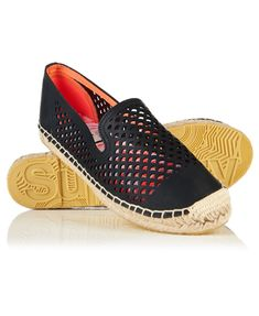 New Womens Superdry Cecelia Slip On Espadrilles Black Slip On Espadrilles, Superdry, Modern, Heels, Boots, Classic, Shopping, Mesh, Woman