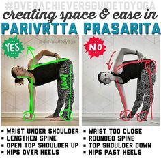 Happy Wednesday my dears! I've realized that sweet little #parivrttaprasaritapadottanasana needs some #overachieversguidetoyoga love, as I keep seeing some funky alignment here in classes and on social media. Many Overachievers tend to forget this isn't so much of a forward fold as it is a twist, so the first intention is to lengthen outward away from the hips. The big pitfall here is the bottom hand placement. Sometimes it's tough to eyeball where that hand should land OR we don't really…