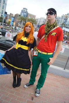 Lolita Batgirl and Hipster Robin cosplay from SDCC