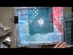 Art Journal page with Helmar & Faber Castell - YouTube