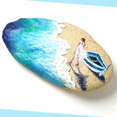 Painted Rocks Craft, Hand Painted Rocks, Paint On Rocks, Painted River Rocks, Painted Rock Animals, Painted Pebbles, Painted Stones, Stone Art Painting, Pebble Painting