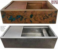 Copper Farm Sink: Custom crafted in the USA. Copper Farm Sink, Copper Farmhouse Sinks, Farmhouse Sink Kitchen, New Kitchen Cabinets, Copper Kitchen, Home Decor Kitchen, Kitchen Sink, Copper Sinks, Kitchen Ideas