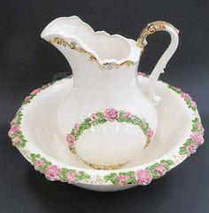Antique Sittre Ceramic Wash Basin Bowl