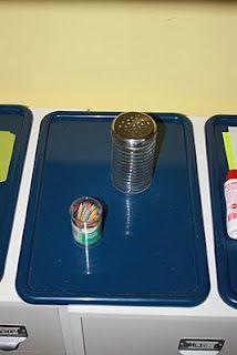 toothpicks into a (Dollar Tree) sugar shaker for fine motor skills