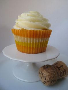 Mimosa Cupcake...@McKenzie Baker..We need to try these. Check out the web sight. Awesome adult cupcake recipes!