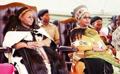 Army Day and Pass Out Parade at Nokwane. Royalty: Her Majesty Indlovukazi and Princess Mantfombi who is wife to King Goodwill Zwelithini of South Africa (and sister to King Mswati of Swaziland) watching the parade.