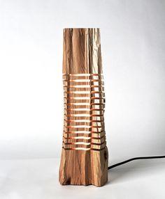 Lampe en bois par SplitGrain sur Etsy