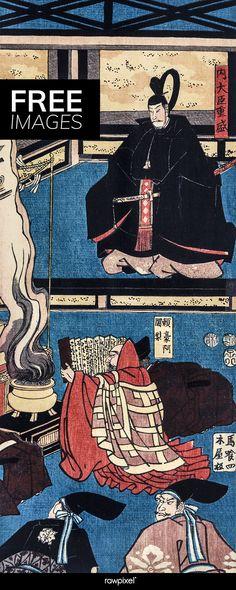 Download beautiful vintage Japanese woodblock prints by Utagawa Yoshikazu at rawpixel.com