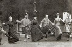 High jinks at country house party.  The future King Edward VII and dissolute friends recklessly make merry in the 1880s.